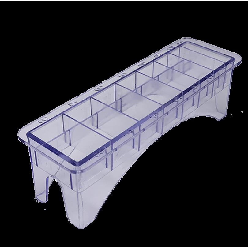 Пластиковая подставка под насадки для машинок Wahl 8 секций