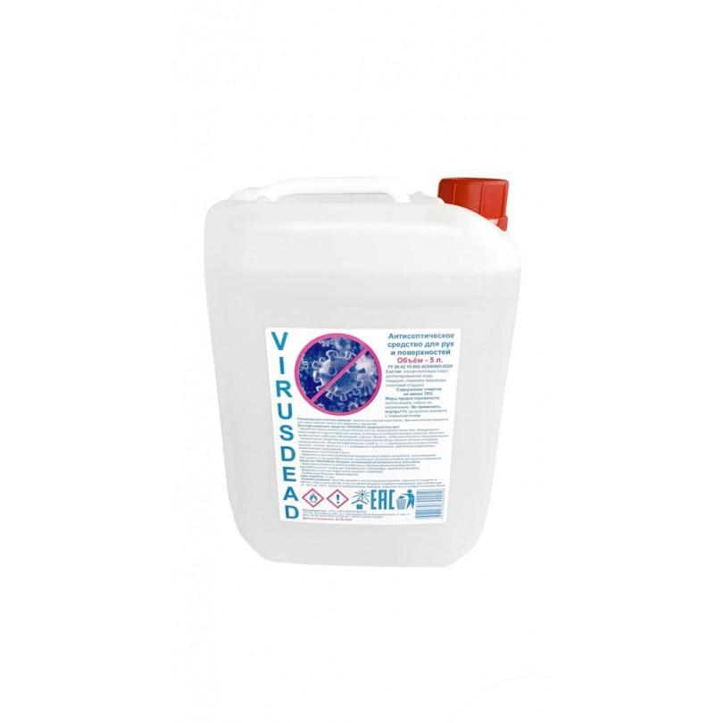 Антисептик Virusdead жидкий 5 л канистра 5000 мл